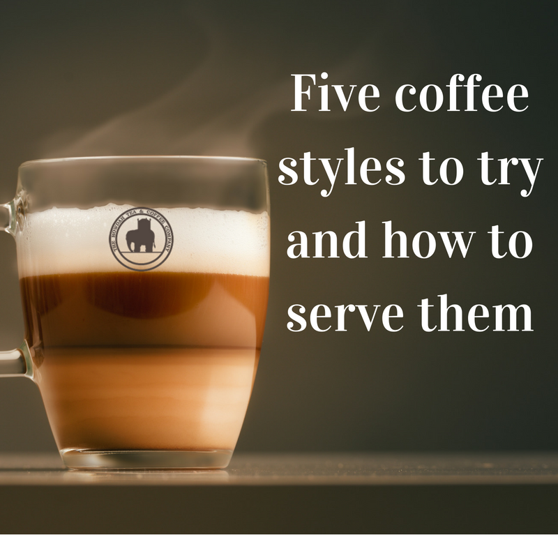 Five coffee styles to try and how to serve them